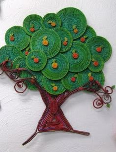 Super news paper art diy ideas Paper Quilling Designs, 3d Quilling, Quilling Paper Craft, Art N Craft, Diy Art, Creative Crafts, Diy And Crafts, African Art For Kids, Recycled Paper Crafts