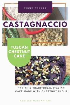 Castagnaccio is a traditional Tuscan chestnut cake that uses chestnut flour.  If you want to try something different that has a unique taste and isn't too sweet, then this is definitely a recipe to try.  Check out how to make it and grab tips on making your chestnut flour if you can't find it at the store!