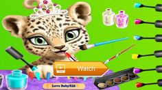 Love BabyKid Baby Jungle Animal Hair Salon Cute animals Video Play game android For kids  Play game Baby Jungle Animal Hair Salon Cut color shampoo style and dress up super cute tropical animals sloth leopard toucan and giraffe Our top  on Pet Lovers