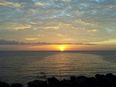Breathtaking sunset in Manado