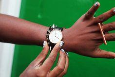 Daniel Wellington Watch, and spike bracelet  www.danielwellington.com