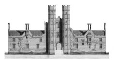 Measured drawing Oxburgh Hall Study Elevation Kingston School of Architecture