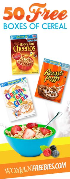 50 Free Boxes of Cereal  Ends March 24, 2013