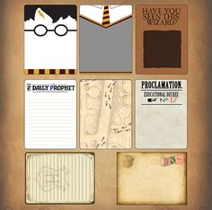 One of SYT's newest creations...journaling cards...in wizarding theme....I need these!!