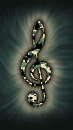 Awesome camouflage treble clef