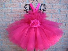 beautiful colors by Jenny Mendes on Etsy Dusty Pink Dresses, Pink Tutu Dress, Red Tutu, Tutu Dresses, Black Tutu, Dress Red, First Birthday Dresses, Birthday Tutu, Girls Pageant Dresses