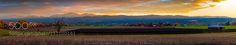 Pastoral Sunset Panorama Jackson County Oregon - Pinned by Mak Khalaf 16 frame panorama with 300mm lens. Captured somewhere between Medford and Ashland Oregon. Roughly by Talent maybe? Travel sunsetagricultureashlandautumnbarncountrycountrysidefarmfieldgreenmedfordoregonpanoramapanoramicpastoralruralsun raystrees by holden