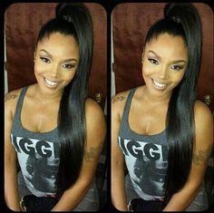 Love her hair,straight www. Love her hair,straight Sleek Ponytail, Ponytail Styles, Ponytail Hairstyles, Weave Hairstyles, Curly Hair Styles, Natural Hair Styles, Prom Hairstyles, Hair Ponytail, Weave Ponytail