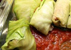 "Paleo Galumpkis or grain-free/gluten-free cabbage rolls. With cauliflower rice these aren't your grandma's ""pigs in a blanket"" Free Paleo Recipes, Cooking Recipes, Healthy Recipes, Healthy Foods, Yummy Recipes, Recipies, Paleo Cabbage Rolls, Food Allergies, Cauliflower Rice"