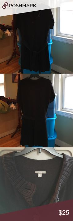 Apt 9. Long Belted Sweater Apt 9. XL Black long sweater with a matching belt. Two front pockets 60% Cotton 40% Acrylic. Apt. 9 Sweaters