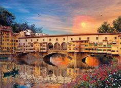 Clementoni Puzzle 39220 - Firenze - 1000 pezzi Romantic: Amazon.it: Giochi e giocattoli