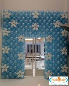 Frozen Wall of Balloons Frozen Decorations, Ballon Decorations, Dance Decorations, Balloon Centerpieces, Birthday Decorations, Frozen Birthday Party, Frozen Theme Party, Balloon Backdrop, Balloon Wall