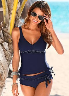 %PC% Tankini top, low rise belted bottom from VENUS