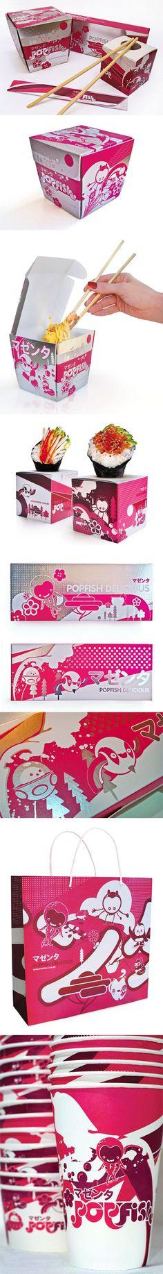 Popfish  --Lovely Package yumm PD - empaque, ilustración e identidad