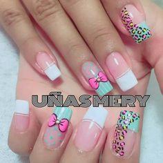 Uñas Nail Tutorials, French Nails, Simple Nails, Nail Arts, Love Nails, Acrylic Nails, Nail Designs, Hair Beauty, Pretty Nails