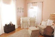 Peaceful Pink and Antique White Nursery