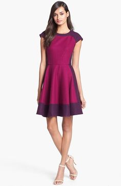 Ted Baker London Colorblock Woven A-Line Dress available at #Nordstrom