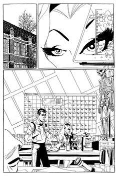 Spiderman Blue . Comic Art