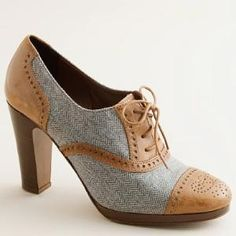 Langford wool high-heel oxfords