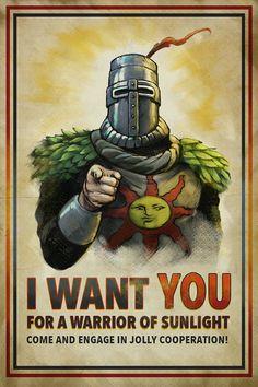 WARRIOR OF SUNLIGHT Recruitment Poster - Propaganda Art