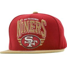 9793d701 Mitchell and Ness San Francisco 49ers STA3 Wool Snapback Cap (red / gold)  NZF30