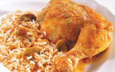 Κοτόπουλο κοκκινιστό με μανιτάρια και κρασί - iCookGreek