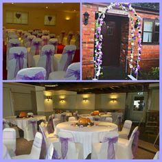 Cadbury purple/Autumn wedding with Pumkins! Walker Entertainment