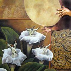 (1) Tumblr Whirling Dervish, Turkish Art, Islamic Calligraphy, Islamic Art, Figure Painting, Illustrators, Mystic, Beautiful Pictures, Artsy