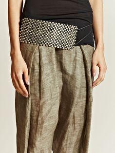 Haider Ackermann Womens Sterling Silver Tuxedo Belt Women's Belts - amzn.to/2id8d5j Clothing, Shoes & Jewelry - Women - women's belts - http://amzn.to/2kwF6LI