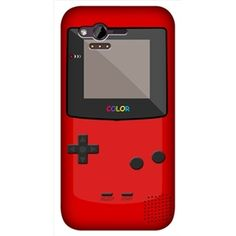 e_cell - Genuine Headcase Red Nintendo Game Boy Classic Snap on back case for HTC Rhyme