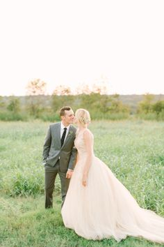 Pretty pink dress: http://www.stylemepretty.com/2015/01/23/texas-outdoor-wedding-with-shades-of-blush/ | Photography: Mint - http://mymintphotography.com/
