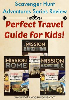 Scavenger Hunt Adventures Series Book Review.   Scavenger Hunt Adventures guides young explorers through the popular sites of cities and engages them in sightseeing through spy-themed scavenger hunts. Children learn about destinations through fun activities and captivating stories.