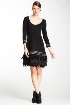Nanette Lepore Shalamar Merino Wool Blend Sweater Dress