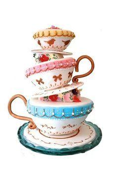 TEA CUP CAKE!!