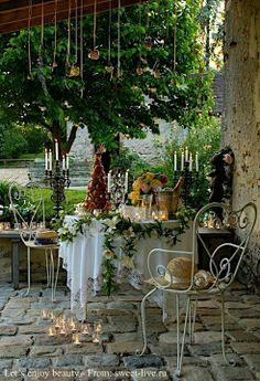 Patio garden, so pretty and inviting!