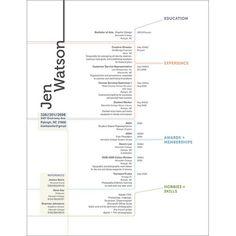 Resume layout/design
