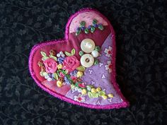 Heart Pin by Eileen Williams