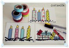 Geburtstagskarten mit Klebeband