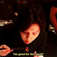 Taemin excited about food.
