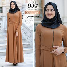 Nayla Collection - Kemerli Taba Elbise #tesettur #tesetturabiye #tesetturgiyim #tesetturelbise #tesetturabiyeelbise #kapalıgiyim #kapalıabiyemodelleri #şıktesetturabiyeelbise #kışlıkgiyim #tunik #tesetturtunik