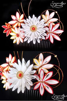 Commission: Bridal Momiji Kanzashi by SincerelyLove on DeviantArt