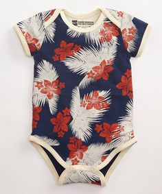 Boy's Aloha Short Sleeve Snapster Bodysuit made with no tags!  #FairTrade #organic #apparel