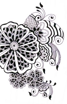 zentangle - who knew what it was called! I've been doing this for years!