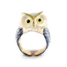 Snow Queen Owl Ring by MONVATOO London
