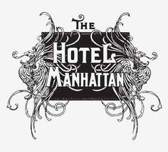 HOTEL MANHATTAN SIGN - http://freepicvector.com/hotel-manhattan-sign/