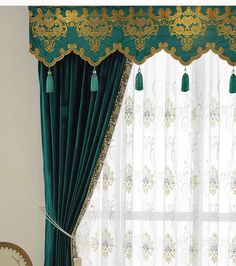 New arrival Twynam Blue and Green Plain Waterfall and Swag Valance and Sheers Custom Made Chenille Velvet Curtains Pair For Living Room- - Custom Curtains Drapes Draperies Sheers Rods and Tracks Easy Home Decor, Home Decor Trends, Cheap Home Decor, Decor Ideas, Interior And Exterior Angles, Interior Design Boards, Velvet Curtains, Drapes Curtains, Curtains Living