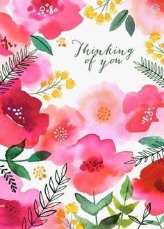 Watercolour painting, watercolours, get well cards, art sketchbook, art jou Watercolor Cards, Watercolor Flowers, Watercolor Paintings, Sympathy Cards, Greeting Cards, The Garden Of Words, Get Well Wishes, Get Well Cards, Birthday Greetings
