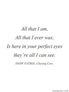 All that I am...