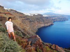 - Striking views abound while hiking in #Santorini along the #Caldera -