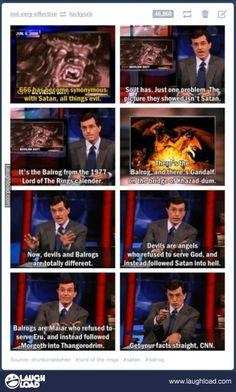 Stephen Colbert, ladies and gentlemen. The King Nerd of Lord of the Rings. @sippatea